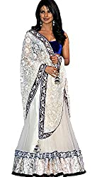 Sargam Fashion Embroidered With Embellished White Georgette Traditional Wedding Wear Lehenga Choli Set. - HFC_Priyanka_White_Lengha