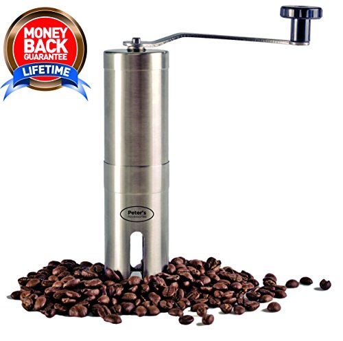Manual Coffee Grinder, Quality Stainless Steel, Easy Operation, Ergonomic Design, Control Coarseness, Adjustable Ceramic Burr Grinder, Portable and Travel Ready, Fresh Coffee At All Times (Ritual Coffee compare prices)