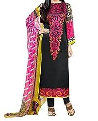Look Smart Women's Polycoton Unstitched Dress Material (KRISHMA PRINT_Multicolor_Free Size)
