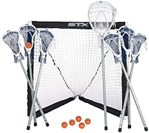 Buy STX FiddleSTX Seven Player Game Set with Six Field Player Sticks One Goalie Stick... by STX