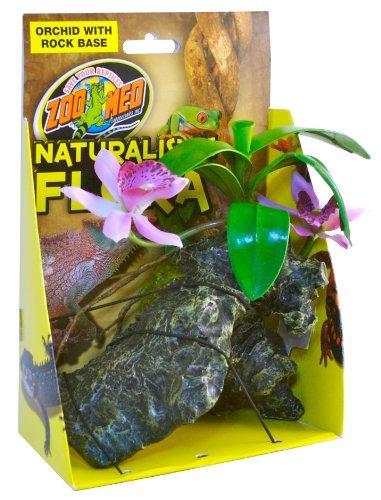 Zoo-Med-Orchid-With-Rock-Plante-en-Plastique-pour-Terrarium