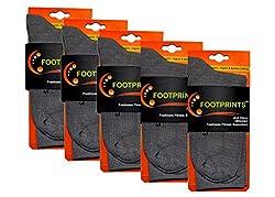 Footprints Organic Cotton & Bamboo Men Formal Socks - Pack of 5 - Grey