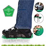 Wealers Green Spiked Lawn Aerator Foot Shoe Set With Heavy Duty Metal Buckles And 3 Straps