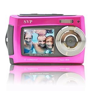 SVP Aqua 5800 Pink 18MP Dual Screen Waterproof Digital Camera