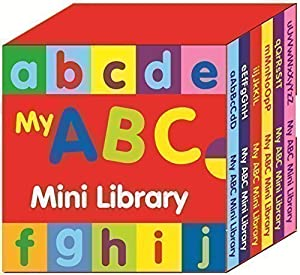 Preschool My ABC Mini Library - Set Of 6 Learn The Alphabet Books