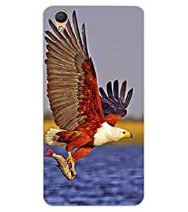 ColourCraft Attacking Hawk Design Back Case Cover for OPPO R9