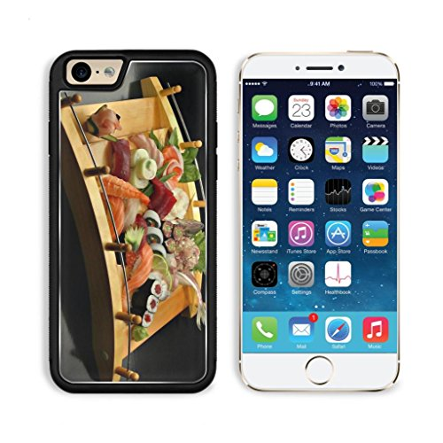 Sushi Sashimi Tray Wooden Bridge Apple Iphone 6 Tpu Snap Cover Premium Aluminium Design Back Plate Case Customized Made To Order Support Ready Luxlady Iphone_6 Professional Case Touch Accessories Graphic Covers Designed Model Sleeve Hd Template Wallpaper