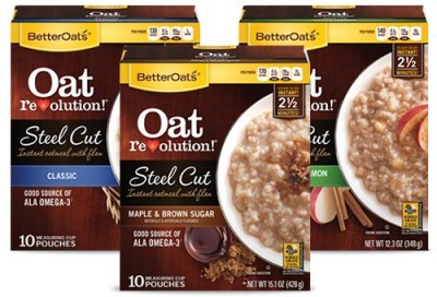 Better Oats Oat Revolution Variety Pack 10 Pouches Per Box (Pack Of 3) Classic; Maple And Brown; Apples And Cinnamon