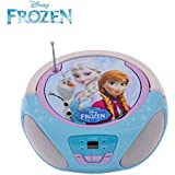 Childrens CD Player for Kids Disney Frozen Boombox featuring Anna, Elsa and Olaf