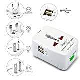 DIGISION 3315794 Dual USB Universal AC Power Plug Adapter - White