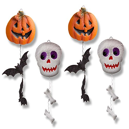 [Metal Halloween Decorations, Set of 4; Halloween Hanging Decorations.] (Halloween Tree Costume)