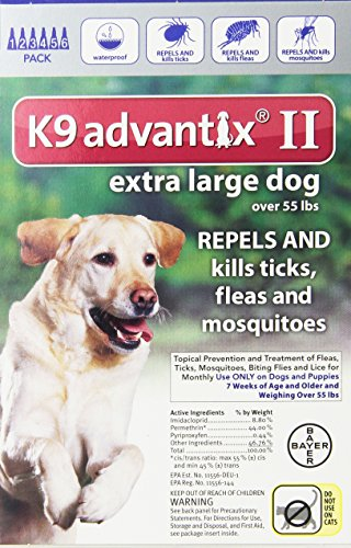 Dog Supplies K9 Advantix Ii Blue 4Ml 55Lb And Over 6Pk