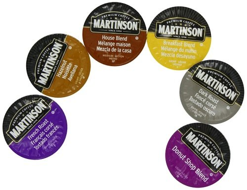 Martinson Coffee Capsules, Variety Pack compatible with Keurig K-Cup Brewers, 36 Count