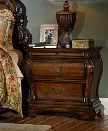Cromwell Nightstand By Homelegance In Warm Cherry front-737990