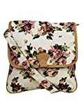 Crafts My Dream Women's Sling Bag Beige Rose Print Cmd146