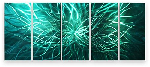 Metal Wall Art Abstract Modern Contemporary Sculpture Electric Spot (Electric Art Gallery compare prices)
