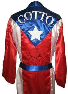Buy Miguel Cotto Signed Puerto Rico Robe by Sports Memorabilia
