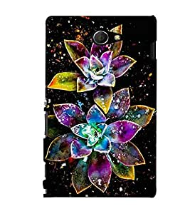 GADGET LOOKS PRINTED BACK COVER FOR SONY XPERIA M2 MULTICOLOUR