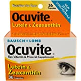 Bausch & Lomb Ocuvite Vitamin & Mineral Supplement Capsules with  Lutein , 36-Count Bottles (Pack of 2)