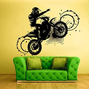 Wall vinyl sticker decals decor art bedroom for Dirt bike bedroom ideas