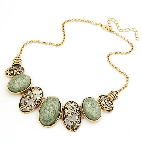 Retro Ellipse Accessories Emperament Short Necklace