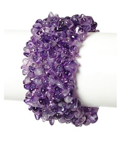 Liv Oliver Amethyst Gemstone Bracelet