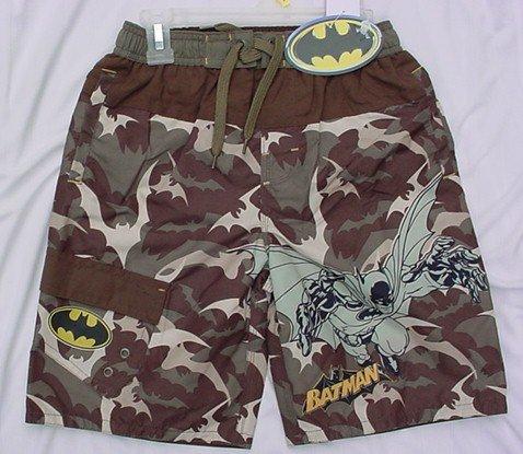 Batman Camo Swimsuit Swim Wear Boys Sz 8 NEW WITH TAGS