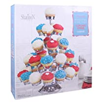 Five Tier Chrome Plated Revolving Cupcake Stand