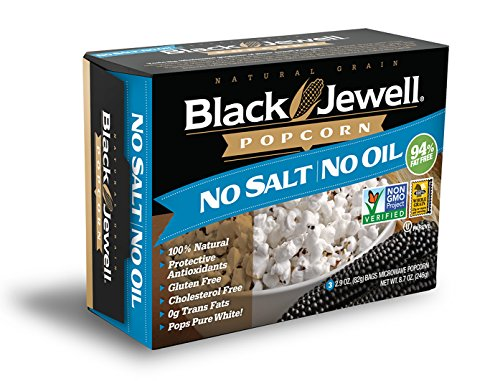 Black Jewell Premium Microwave Popcorn, No Salt No Oil, 3-Count, 8.7-Ounce Boxes (Pack of 6) (Black Jewell Microwave Popcorn compare prices)