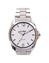 Turbo Youth Analogue White Dial Men's Watch - R112-001M