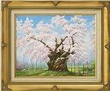 日本三大桜「山高神代桜」(肉筆・油彩画F6号)山田清光 画