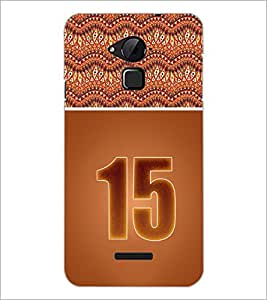 PrintDhaba Numerology Number 15 D-3648 Back Case Cover for COOLPAD NOTE 3 LITE (Multi-Coloured)