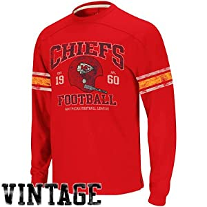 Reebok Kansas City Chiefs Vintage Applique Long Sleeve T-Shirt by Reebok