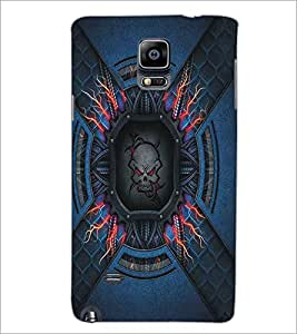 SAMSUNG GALAXY NOTE 4 SKULL Designer Back Cover Case By PRINTSWAG