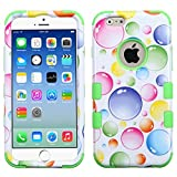 Product B00VHZJK0I - Product title MyBat Apple iPhone 6 TUFF Hybrid Phone Protector Cover - Retail Packaging - Rainbow Bigger Bubbles/Electric Green
