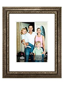 Malden International Designs Stafford Antiqued Silver Matted to Hold 10x13 or 11x14 - without Matt 16x20 Picture Frame