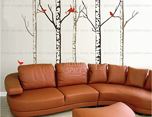 The Living Room Television Background Wall Stickers Birch Forest front-846369