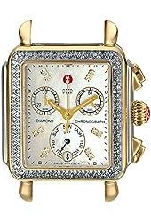 MICHELE Women's MW06P01C5046 Deco Two-Tone Watch Head with Diamonds