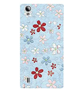 Beautiful Floral Patterns 3D Hard Polycarbonate Designer Back Case Cover for Vivo Y15S :: Vivo Y15