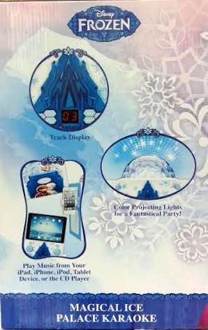 Disney Frozen Magical Ice Palace Flashing Disco Ball Karaoke Bonus CD+G Disc Inside Includes Lyrics Booklet