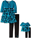 Dollie & Me Little Girls Tiered Tunic and Legging Set
