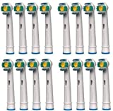 Classic 16 x 3D White / Pro Bright Oral B Compatible Replacement Toothbrush Heads