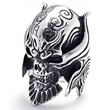 buy Anazoz Jewelry Silver Black Bold Biker Mens Punk Gothic Skull Stainless Steel Ring Size 12