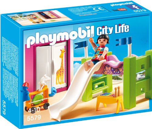 PLAYMOBIL-5579-Kinderzimmer-mit-Hochbett-Rutsche