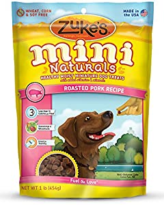 Zuke's Mini Naturals Dog Treats, Roasted Pork Recipe, 16-Ounce