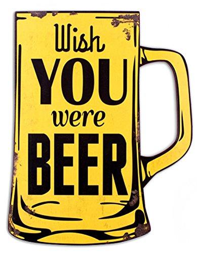 Birra - Wish You Were Beer Poster Targa In Metallo (48 x 38cm)