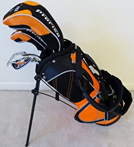 Boys Junior Golf Club Set with Stand Bag for Kids Ages 3-6 Ricky Fowler Orange Color... by PG Golf Equipment