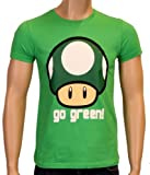 Coole-Fun-T-Shirts Nintendo Super Mario Go Green T-Shirt green Size:M