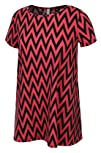 Made By Johnny Womens Zig Zag Deco Blouse