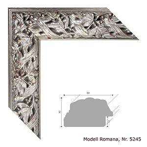 bilderrahmen romana antik silber 30x40 cm komplett mit normalglas k che haushalt. Black Bedroom Furniture Sets. Home Design Ideas
